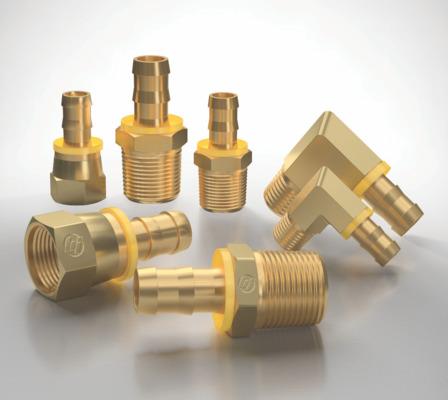 Brass push on fittings